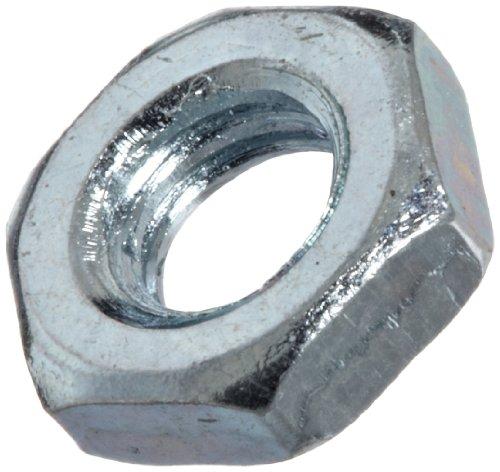 Steel Hex Jam Nut Zinc Plated Finish Class 4 DIN 439B Metric M4-07 Thread Size 7 mm Width Across Flats 22 mm Thick Pack of 100