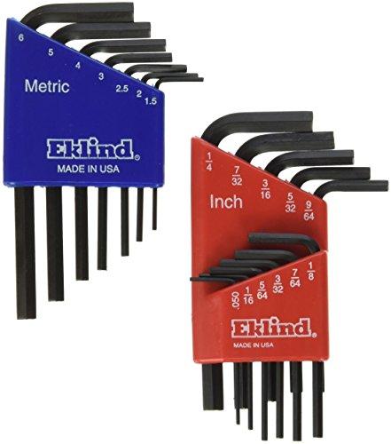 Eklind 10518 Metric Standard 18pc Hex Key Set  - Short