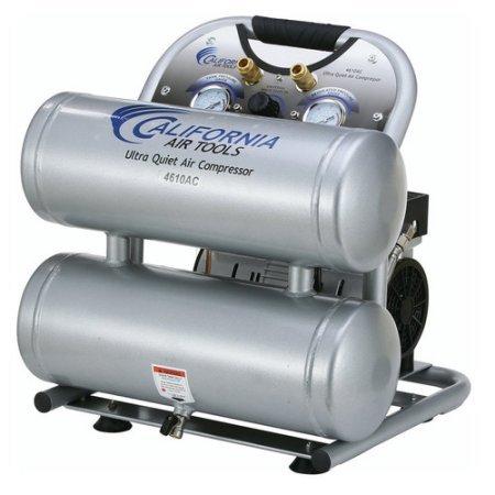 California Air Tools  4610-AC Ultra Quiet Oil-Free 10-Hp 46-Gal Aluminum Twin Tank Air Compressor