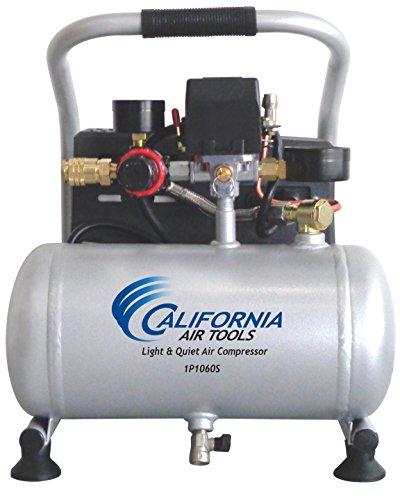 California Air Tools CAT-1P1060S Light Quiet Portable Air Compressor Silver