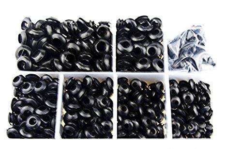 XLX 700Pcs M3  M4  M5  M6  M7  M8  M10 Rubber Grommet Assortment Wiring Coil Wire Gasket Kit