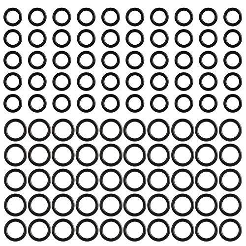 lorelo 100 pcs Rubber O-Ring Power Pressure Washer O-Rings Washer O-Ring Assortment Kit O-Ring Gaskets Set