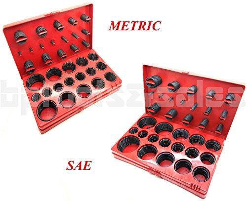 826 Pc O-Ring Assortment Set Plumbing Metric SAE Orings Rubber Gasket Tool Kit