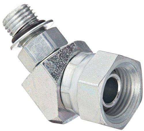 Eaton Weatherhead 9365X4X6 Carbon Steel Straight Thread O-Ring Adapter Swivel 45 Degree Elbow 38 Female Pipe Swivel x 716 Male Straight Thread O-Ring