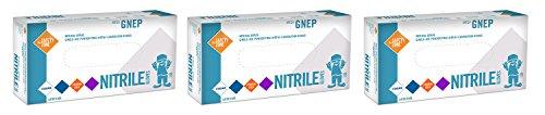 Nitrile Exam Gloves Medical Grade EGetWF Latex Rubber Free Indigo Large 100 Count 3 Pack