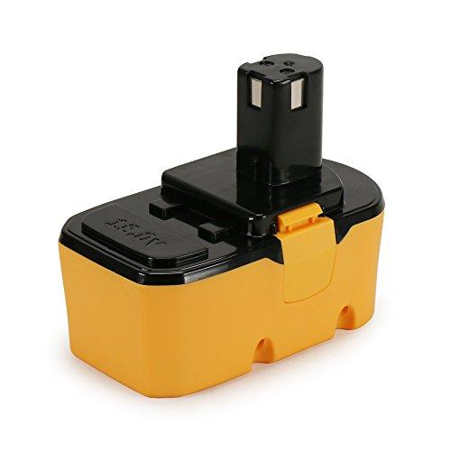POWERAXIS Ryobi 18v Battery Replace for Ryobi P100 P101 130224048 ABP1801 ABP1803 BCP18172SM Cordless Drill DriverPod Style