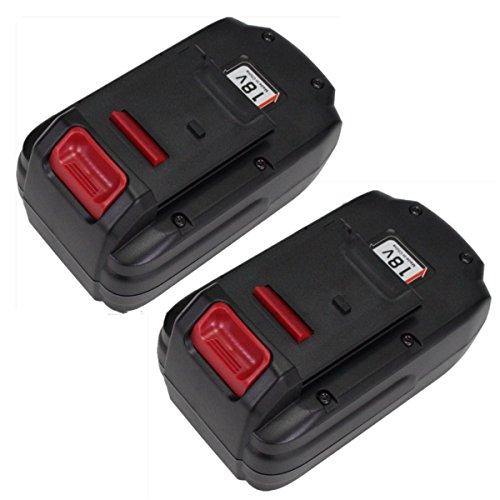 Topbatt 2Packs 18V 3000mAh Ni-MH Replacement Battery for Porter Cable PC18B PCC489N PCMVC PCXMVC