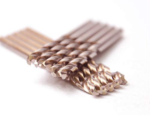 10 Pcs Pack 564 Inch M35 HSS Cobalt Drill Bit Jobber Length Drill Bits Twist Drill Bits 135 Deg Split Point Drilling Steel Meteal Iron