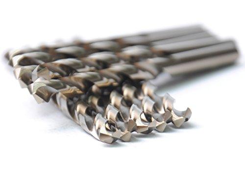 DRILLFORCE 10PCS18 Inch HSS General Purpose Heavy Duty Jobber Cobalt Twist Drill Bitsideal for drilling on mild steel copper Aluminum Zinc alloy etc