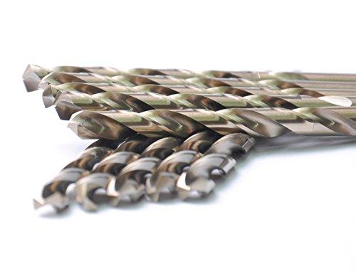 DRILLFORCE 5PCS 516 Inch HSS General Purpose Heavy Duty Jobber Length Cobalt Twist Drill Bitsideal for drilling on mild steel copper Aluminum Zinc alloy etc