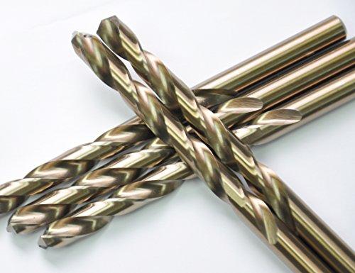 DRILLFORCE 5PCS 716 Inch HSS Jobber Cobalt Twist Drill Bitsideal for drilling on mild steel copper Aluminum Zinc alloy etc