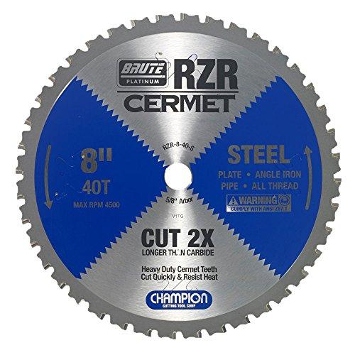 Champion Cutting Tool Corp Circular Saw Blade 8 40T RZR-8-40-S-Cut Steel