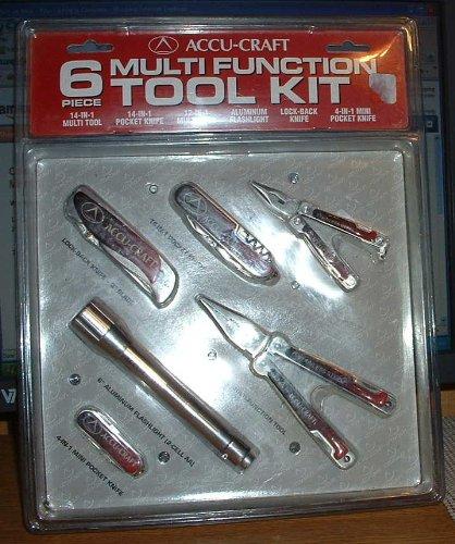 Six Multi-function Tool Kitincludes 6 Aluminum Flashlight