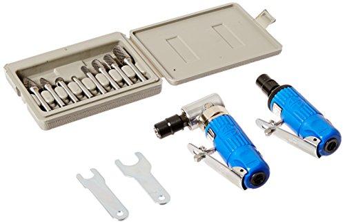 Astro 1221 Die Grinder Kit with Rotary Burr Set - 8 Piece