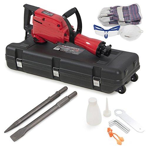 ARKSEN 2200W Electric Demolition Jack Hammer Concrete Breaker Punch Chisel Bits Portable Heavy Duty with Case Kit
