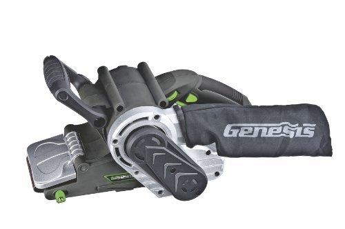 Genesis GBS321A 3-Inch-by-21-Inch Variable Speed Belt Sander with Cloth Dust Bag Grey by Genesis