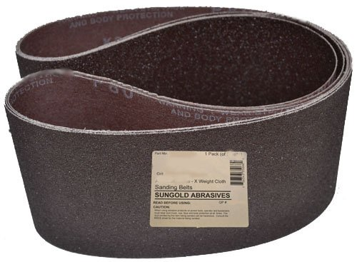 Sungold Abrasives 67667 Premium X-Weight Cloth Silicon Carbide 150 Grit Edge Sander Belt Pack of 2 6 by 89