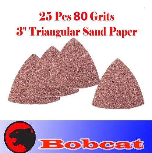 Pack of 25 80 Grits Sand Paper 3 Triangular 25 Sandpaper Oscillating Multi Tool for Fein Multimaster Dremel Sand Paper Voss