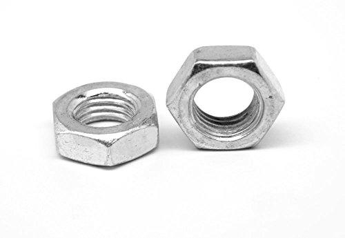 14-28 Fine Thread Hex Jam Nut Stainless Steel 18-8 Pk 100