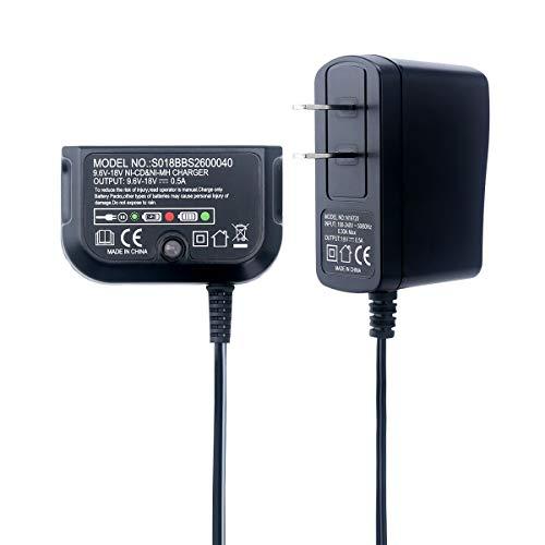 Biswaye 12V 144V 18V Dual Chemistry Battery Charger 90556254-01 for Black Decker 96V-18V NiCad NiMh Battery HPB18 HPB18-OPE FSB18 HPB14 FSB14 HPB12 FS12B HPB96 FSB96