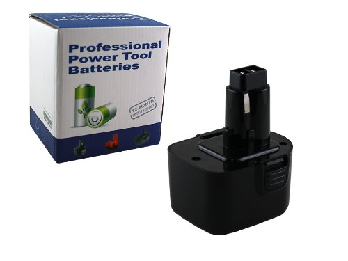 12 volt Dewalt DW9116 battery by Powewarehouse - Professional Grade battery pack
