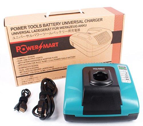 PowerSmart Charger for Dewalt DC011 DE9116 DW9108 DW9109 DW911 DW9116 DW9117 - Built-in dual USB ports