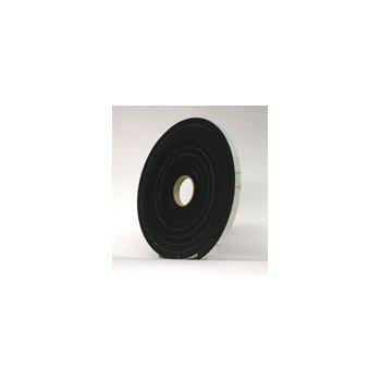 Black Sponge Rubber 3  8 x 3  8 inches x 1 0 feet