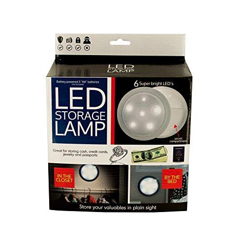 Kole Imports OL033 Light Source LED Secret Storage Lamp 8 x 3