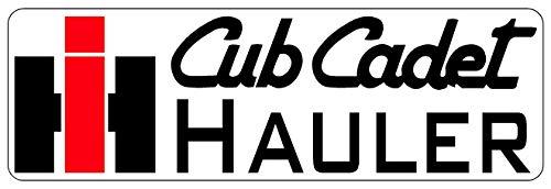 Set of 2 CUB Cadet IH Hauler Bumper Premium Quality Die Cut Sticker Vinyl Decal for Car Bumper Laptop Window Locker 8 x 3