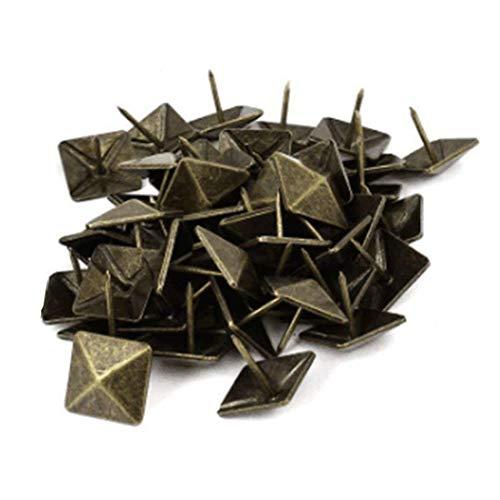 Sydien Square Cone Antique Brass Upholstery Nails Furniture Tacks Pushpins Hardware Decor 50 Pcs