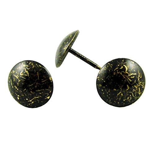 decotacks Upholstery Nails Furniture Tacks Thumb Tacks Push pin 716 Head - 100 Pcs Antique Z Finish DX0611