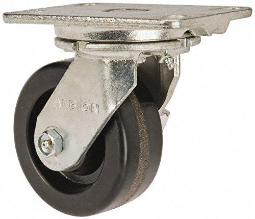Albion 71TM05227SL Heavy Duty Swivel Caster with Swivel Lock 5 Diameter Phenolic Wheel Radial Bearing 2 Tread Width 5 L x 4 W Plate 1000 lb Capacity