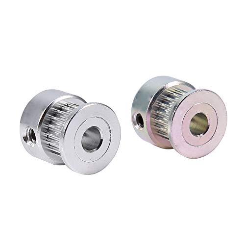 2pcsLot Belt Pulleys Gear Printer Tooth Pulley Timing Pulley Wheel 5mm Inner Diameter 20 Teeth Mounted Bearings Aluminum Alloy