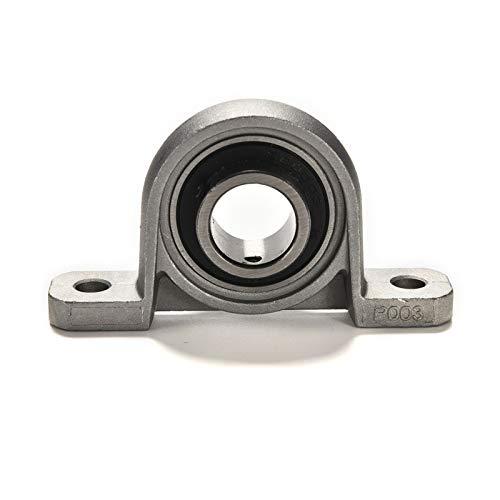 JiaUfmi 1PC Silver Bearing Ball Pillow Block 17 mm Bore Diameter Mounted Bearings