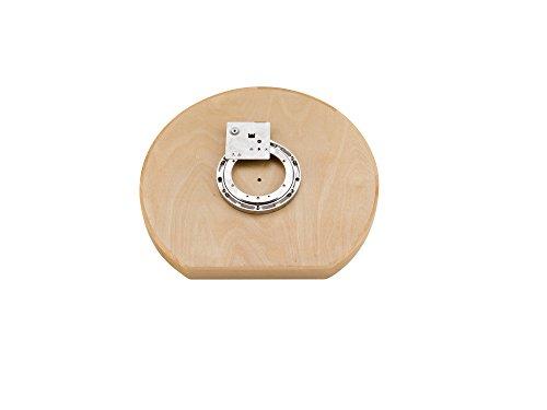 Rev-A-Shelf - 4WLS201-20-BS52 - 20 in Wood Single Shelf D-Shape Lazy Susan Single Shelf with Swivel Bearing