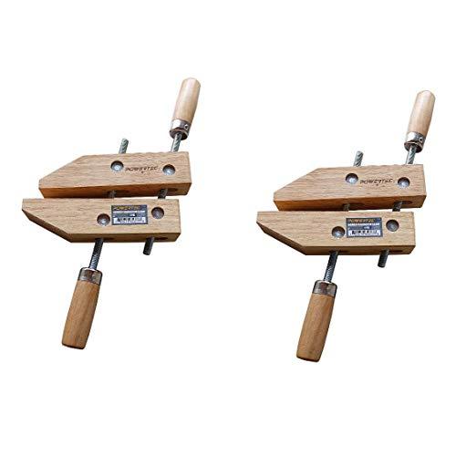 POWERTEC 71524 Wooden Handscrew Clamp - 10 Inch  Hand Screw Clamps for Woodworking 2PK