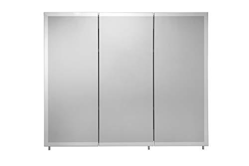 Croydex WC102322AZ Westbourne Triple Door Tri-View Cabinet 30-Inch x 36-Inch White