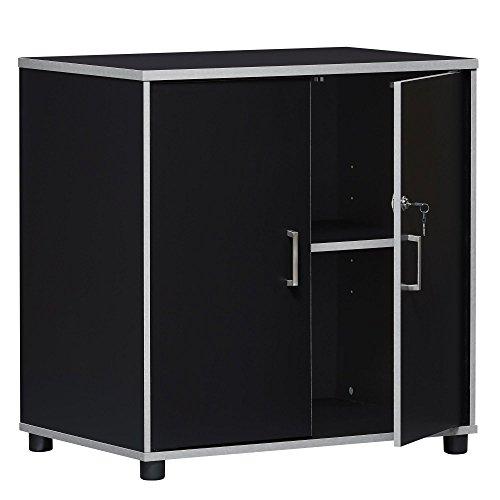 SystemBuild Apollo 2 Door Base Cabinet Black