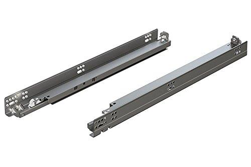 BLUM 5696100B Tandem Plus Blumotion Drawer Runner Pair Silver