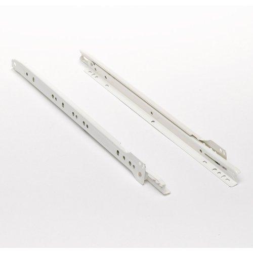 Bulk Hardware BH00331 Drawer Slides Glides Runners Bottom Fix 400mm 16 inch Cream - Pack of 2 Pair