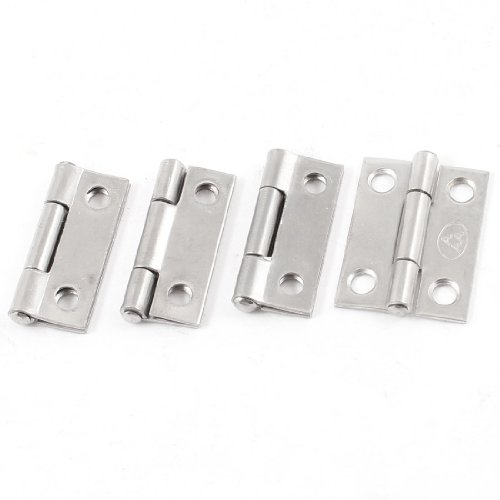 4 Pcs 32mm Hole Stainless Steel Rotatable Cupboard Door Hinge Silver Tone 1