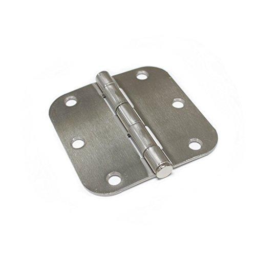3-12inch Satin Nickel Door Hinges with 58 Radius Round Corner Heavy DutyBrushed Satin Nickel30 Pack