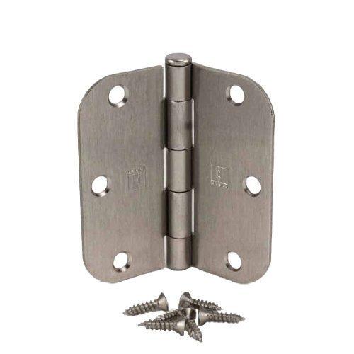 Pack of 50 Hager 3 12 Inch Satin Nickel Door Hinges with 58 Radius Corners