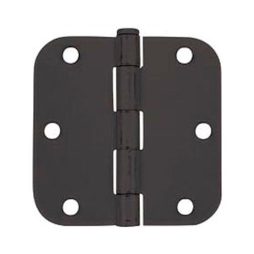 Cosmas Flat Black Door Hinge 35 Inch x 35 Inch with 58 Inch Radius Corners - 12 Pack