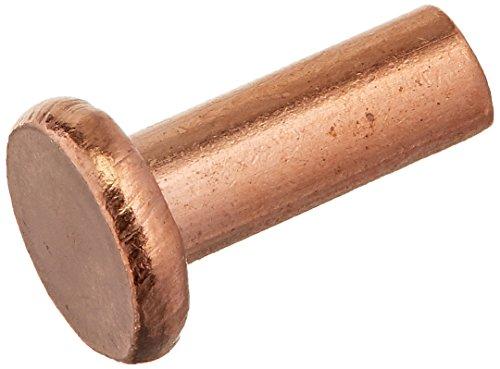 uxcell a15091700ux0445 100 Pcs 18 x 516 Flat Head Bolts Copper Solid Rivets Fasteners