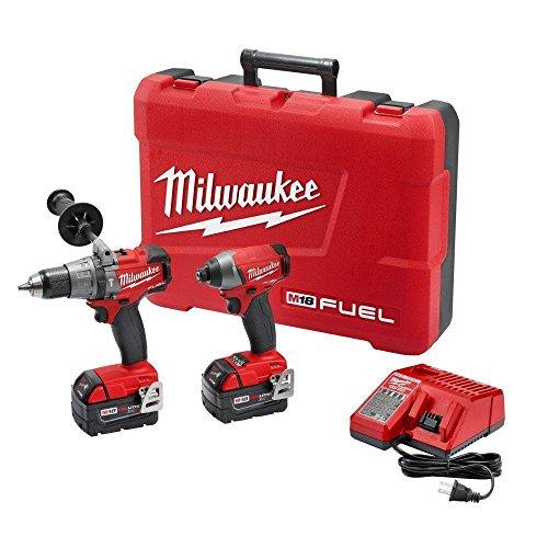 Milwaukee 2897-22 M18 Cordless Brushless Hammer Drill Impact Driver 2X 50ah NEW