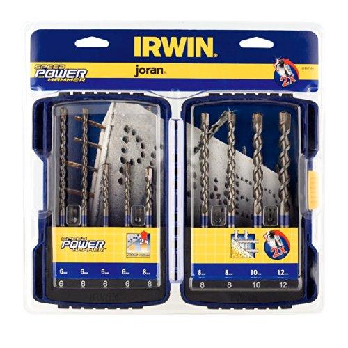 Irwin 10507538 Speed Hammer Power Drill Bit Set 9 Pieces