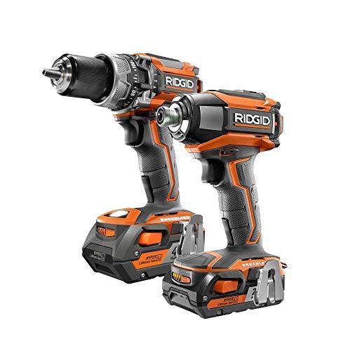 RIDGID R96171 GEN5X 18V Brushless Cordless Hammer Drill  3-Speed Impact Driver Combo Kit 2-Tool