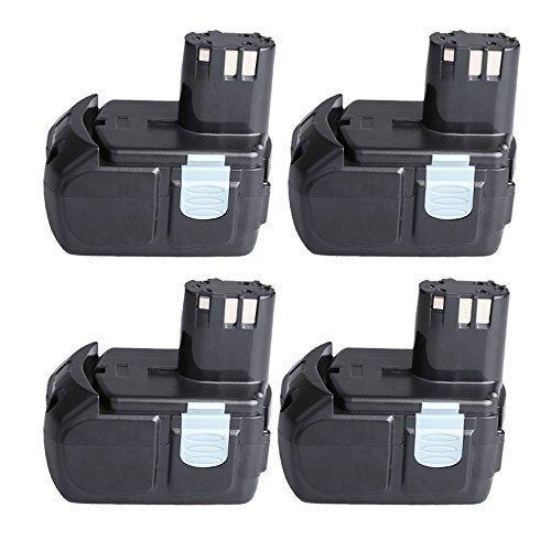 "Hitachi EBM1830 Battery 4 Packs CREJOYâ""¢ 18v 40AH Li-ion Battery for Hitachi BCL1815 EBM1830"