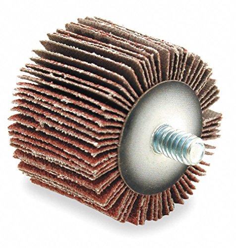 ARC ABRASIVES Coated Aluminum Oxide Mounted Flap Wheel Threaded Shank Type 1 Dia 1 Face Width